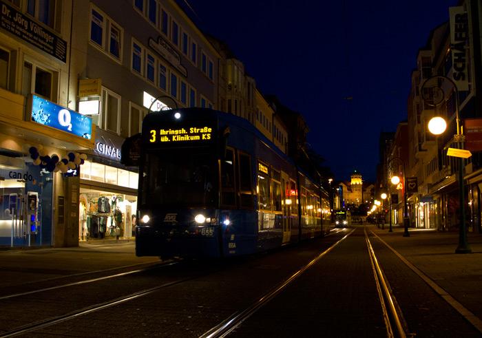 ночной трамвай в Касселе