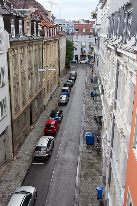 Вид из окна номера в Hotel Müller в Мюнхене - Татьяна Гладченко, 2012