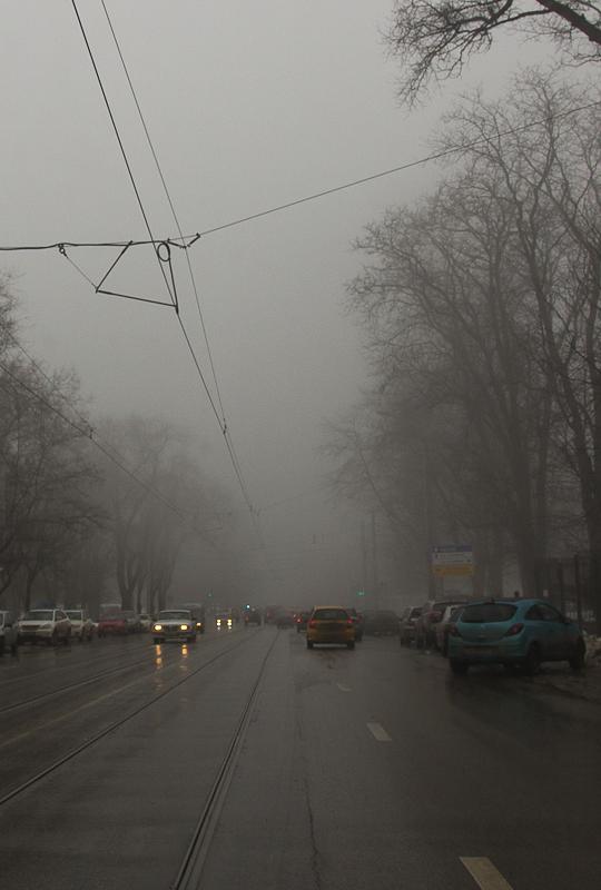 Туман в Ростове-на-Дону. Театральный проспект - Татьяна Гладченко, 2012