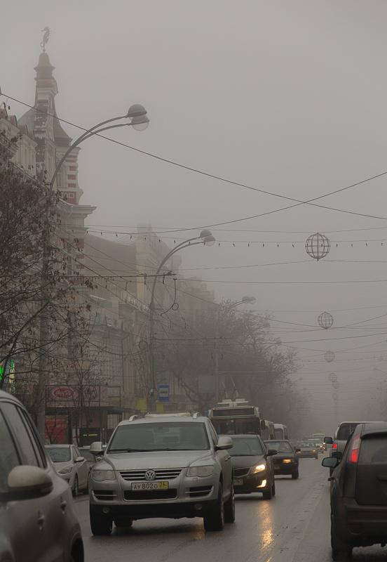Туман в Ростове-на-Дону. Садовая - Татьяна Гладченко, 2012
