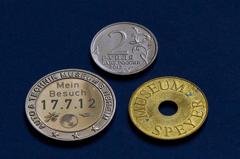 монетка и жетон