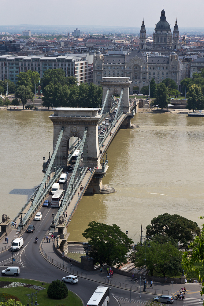 Будапешт. Вид на Цепной мост ©Татьяна Гладченко, 2013