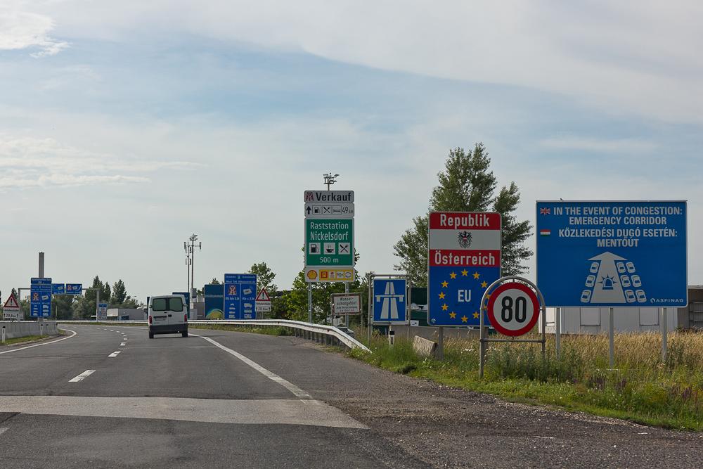 Въезд в Австрию из Венгрии