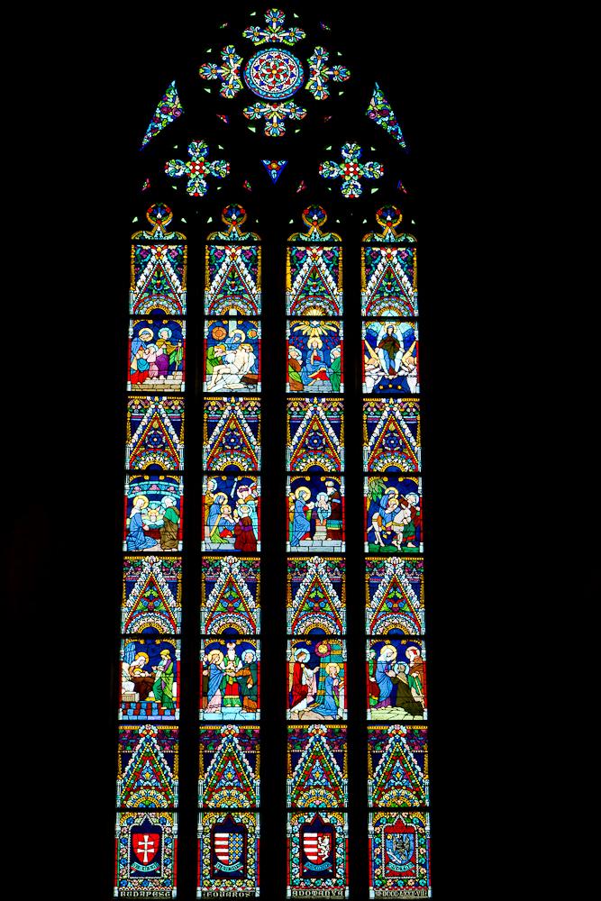 Церковь Святого Матьяша. Витраж. Фото Гладченко С.