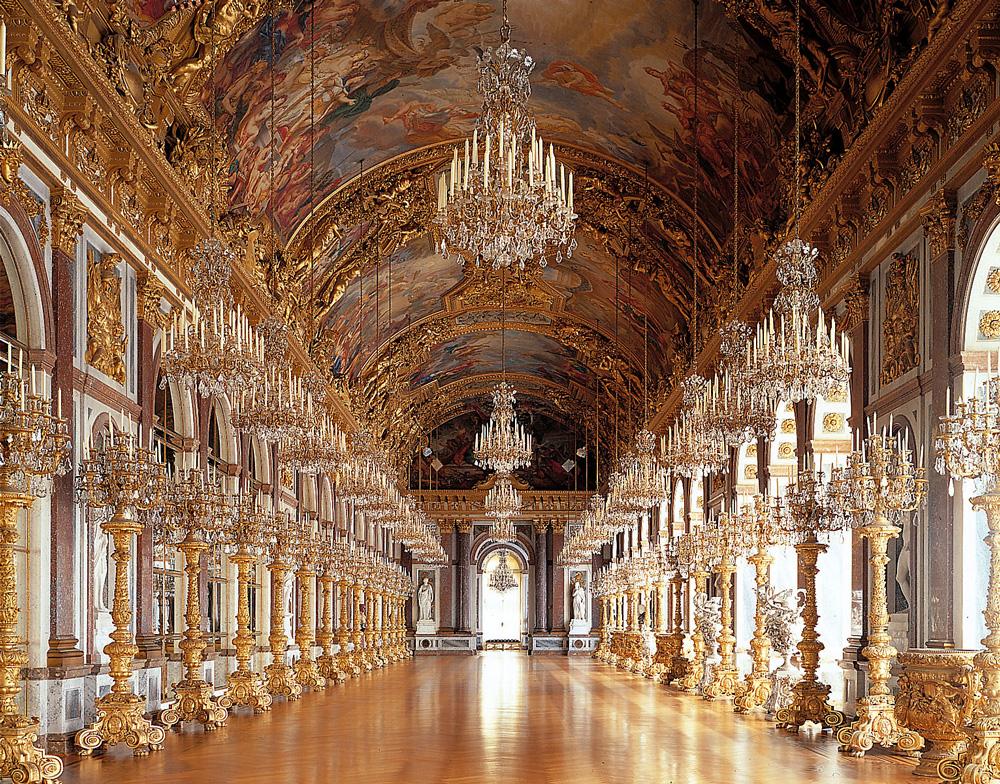 Дворец Херренкимзее (Neues Schloss Herrenchiemsee). Большая зеркальная галерея.
