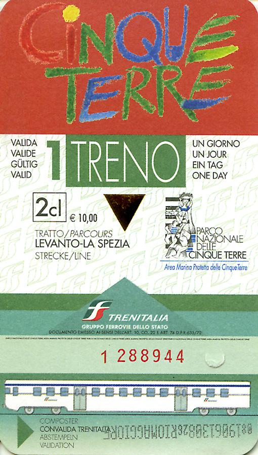 Дневной билет по Чинкве Терре (Cinque Terre)