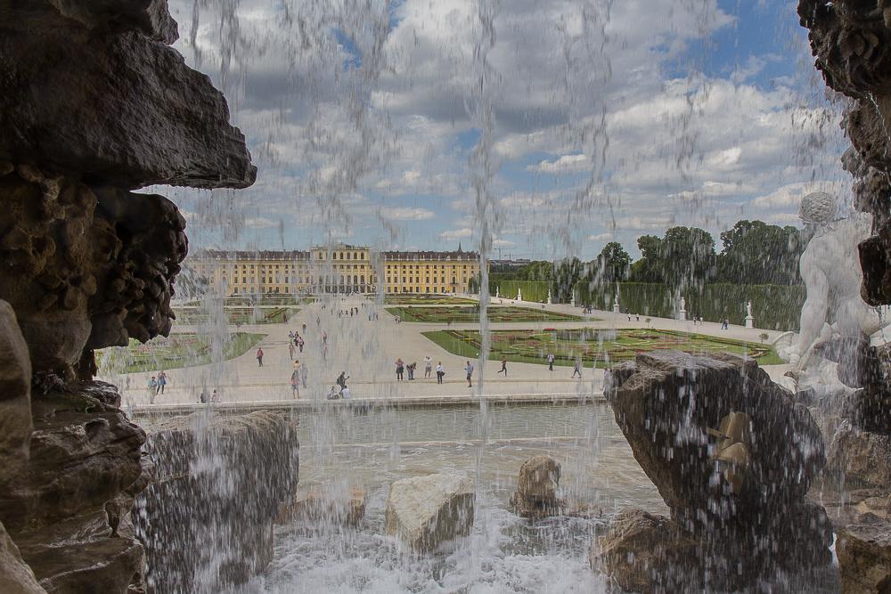 Дворец Шёнбрунн (Schloß Schönbrunn) и фонтан ©Татьяна Гладченко, 2014