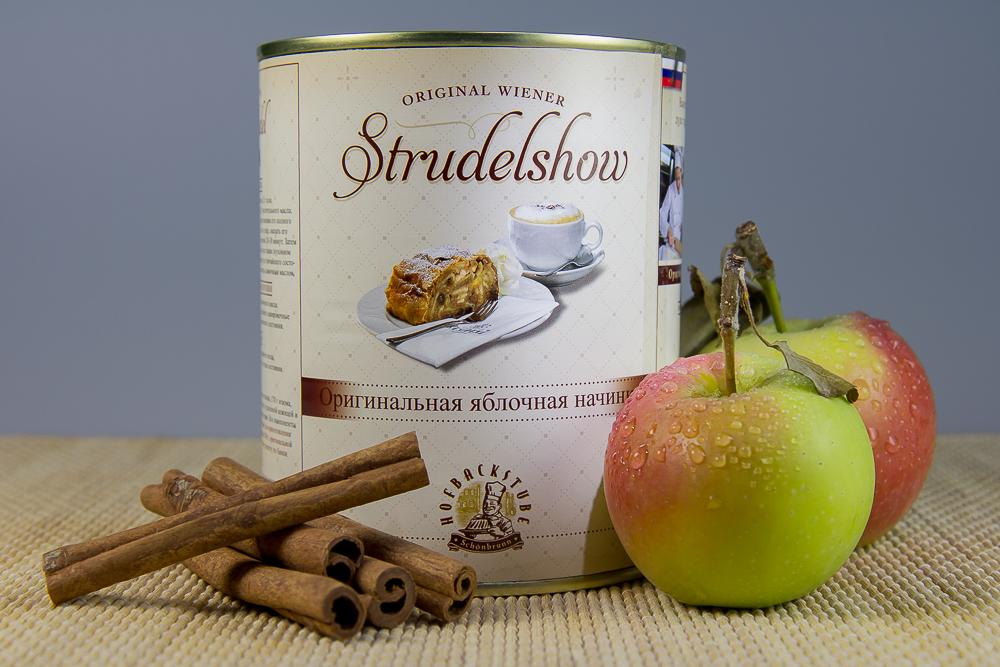 Дворец Шёнбрунн (Schloß Schönbrunn) — яблочная начинка из штрудель-шоу ©Татьяна Гладченко, 2014