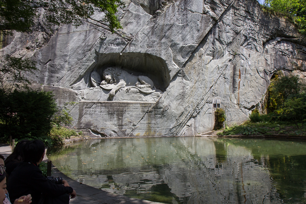 Умирающий лев в Люцерне (Löwendenkmal) © Татьяна Гладченко, 2014