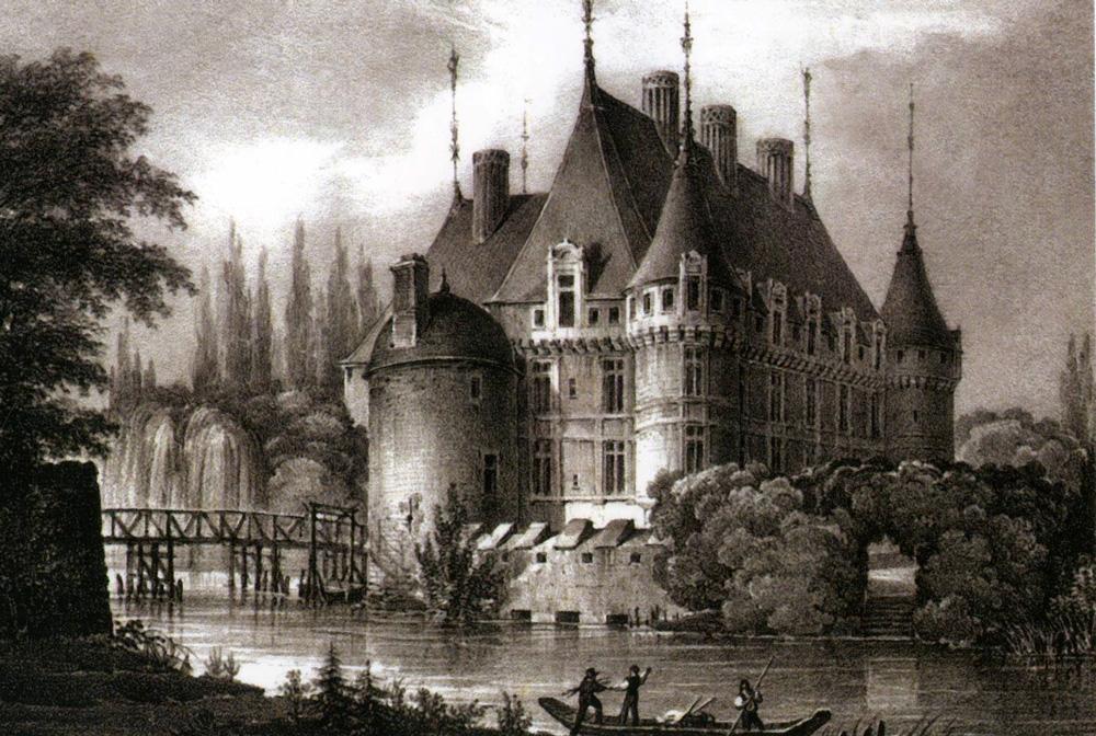 Château d'Azay-le-Rideau, 1824