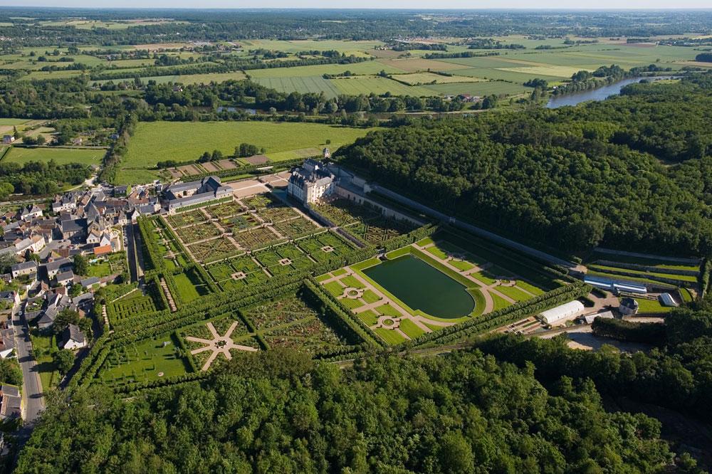 Château de Villandry, vue aerienne
