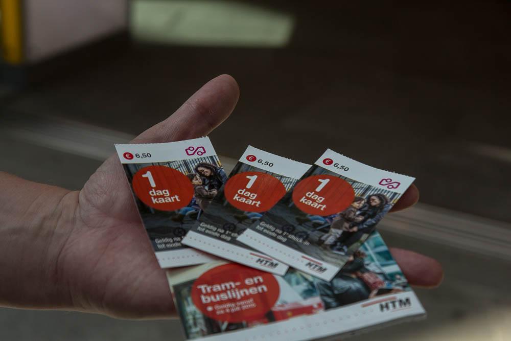 Билеты на трамвай в Гааге ©Татьяна Гладченко, 2015