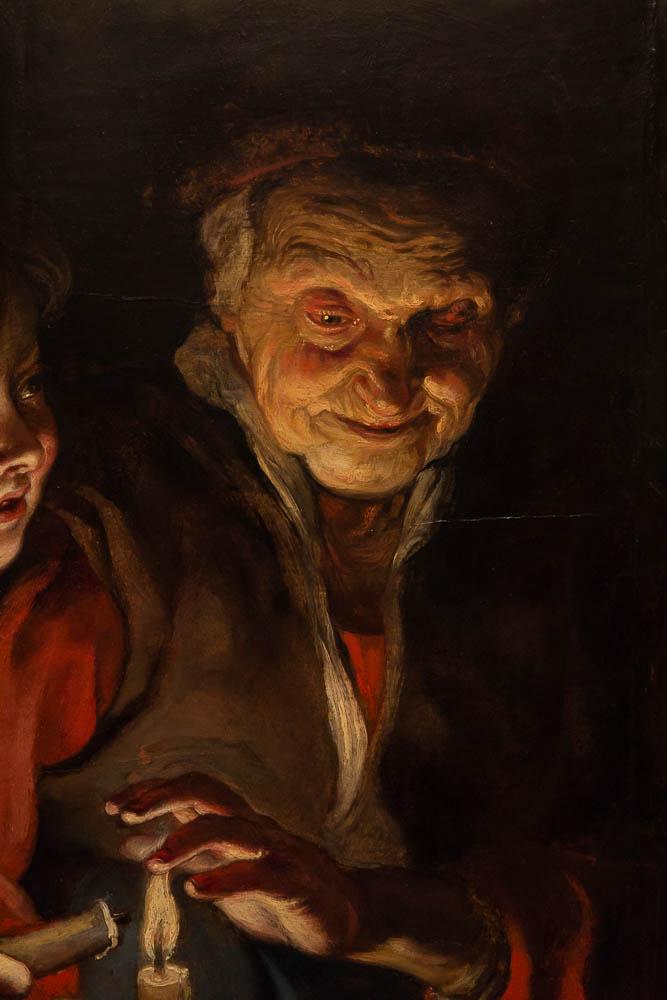 Питер Пауль Рубенс — Старуха и мальчик со свечами (фрагмент)