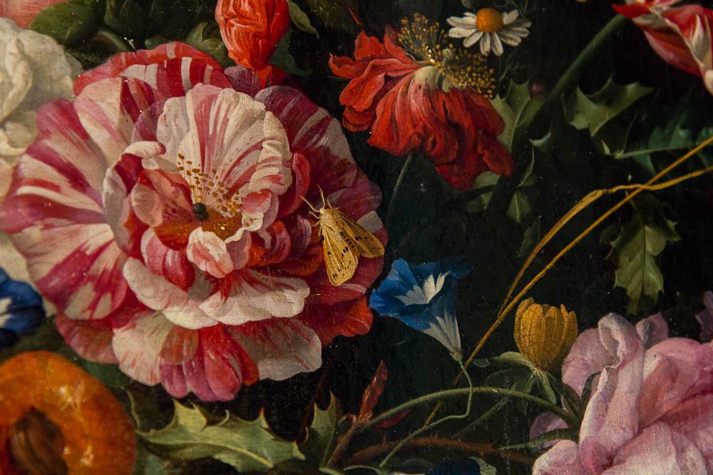 Ян Давидс де Хем (Jan Davidsz. de Heem) — Ваза с цветами (фрагмент)