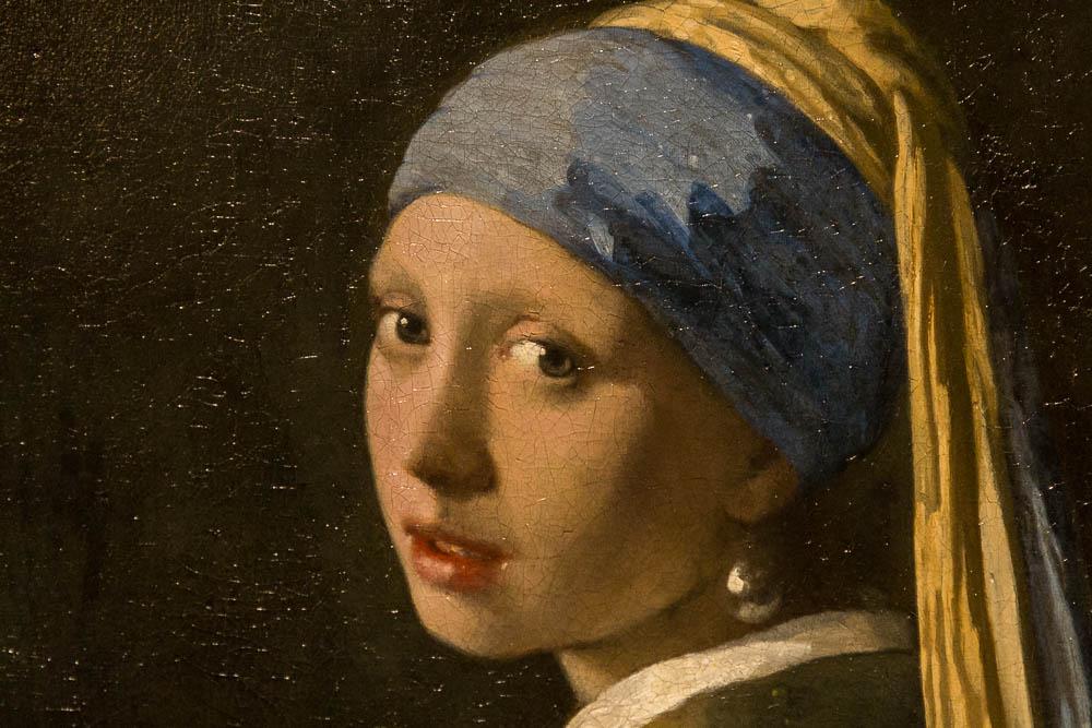 Ян Вермеер — Девушка с жемчужной серёжкой (фрагмент)