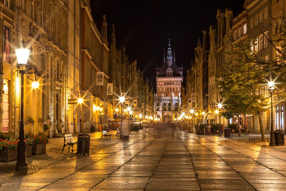 Ночной Гданьск (Gdańsk) ©Татьяна Гладченко, 2015