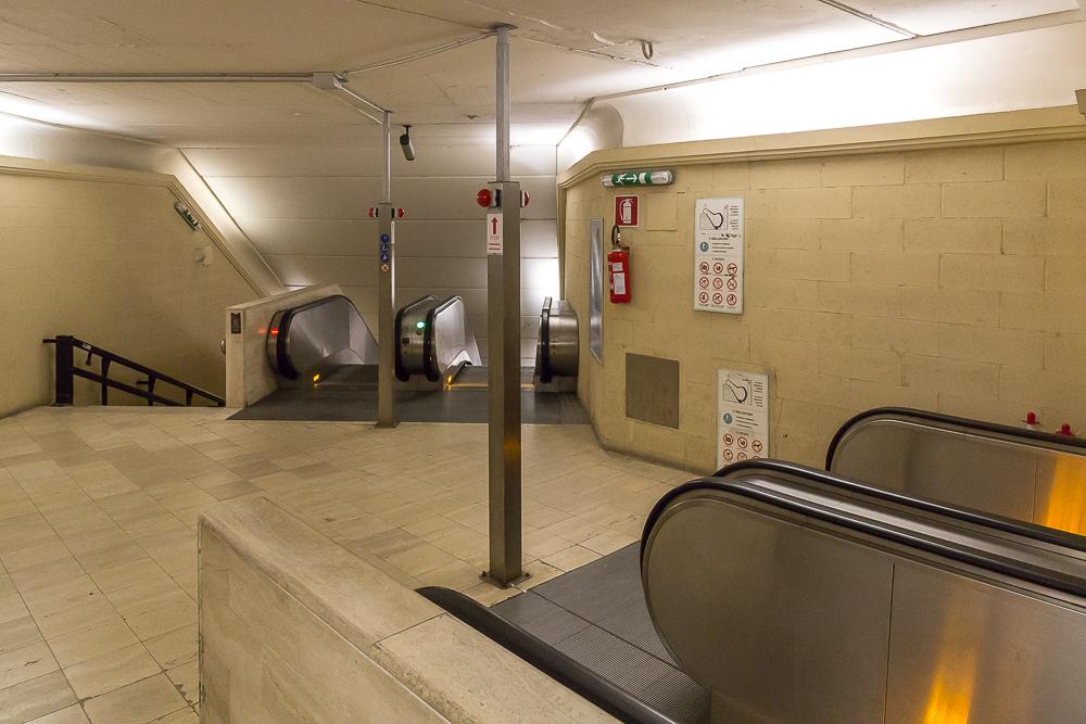Эскалатор с парковки Сан Франческо в центр Сиены © Татьяна Гладченко, 2013