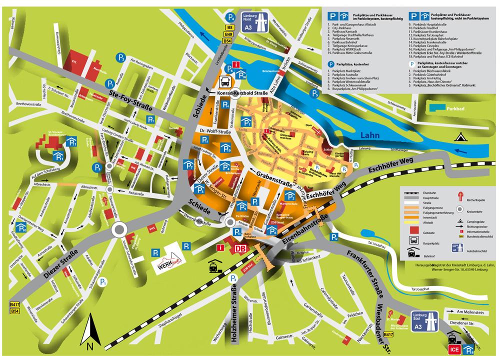 Карта Лимбурга (Limburg an der Lahn)