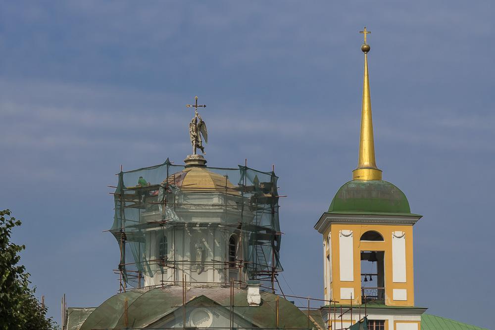 Усадьба Кусково. Церковь Спаса Всемилостивого и колокольня ©Татьяна Гладченко, 2015