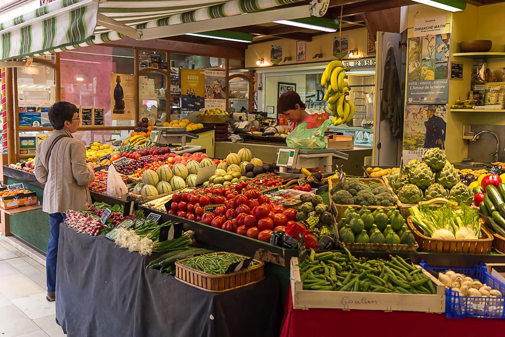 Крытый рынок Сен-Франциска в Кемпере (Halles Saint-François, Quimper) © Татьяна Гладченко, 2014