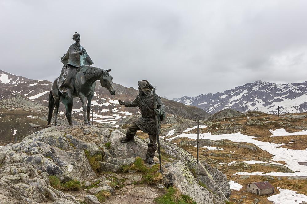 Памятник Суворову на перевале Сен-Готард (Gotthardpass) ©Татьяна Гладченко, 2016